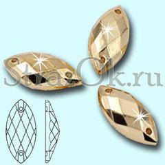 Пришивные акриловые стразы Navette Gold купить в интернет магазине Strazok.ru