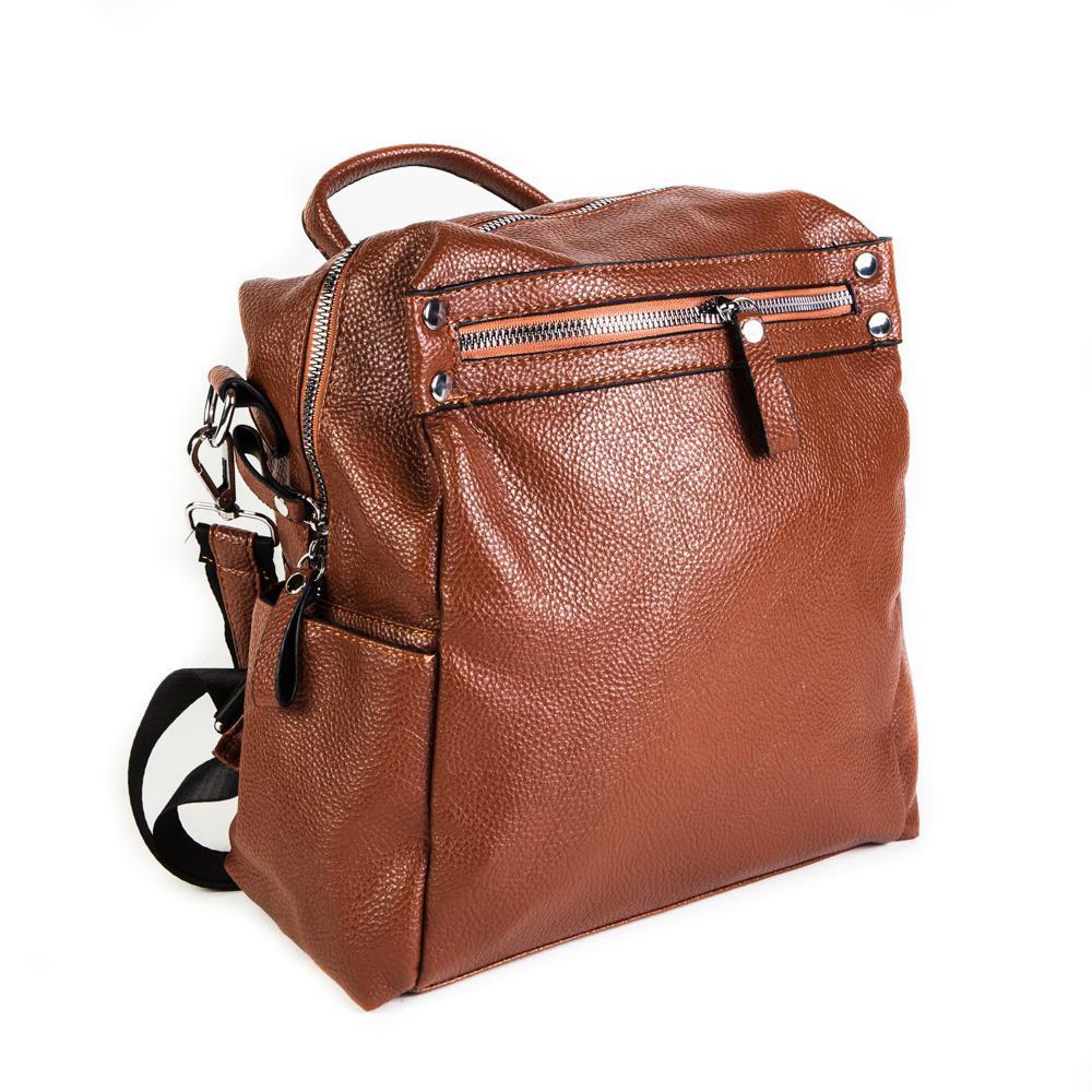 Женский средний рюкзак 29х32х12 см рыжый 4096-2-2