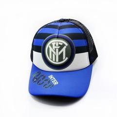 Кепка сетка с логотипом ФК Интернационале (Бейсболка FC Internazionale Milano) синяя