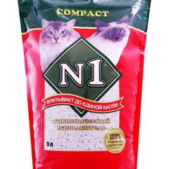 N1 Compact комкующийся наполнитель пакет полиэтилен