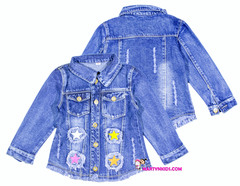 839 куртка джинсовая Звездочки