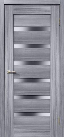 Дверь Дера Мастер 643, стекло белое, цвет сандал серый, остекленная