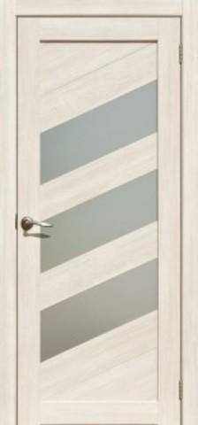 Дверь Двероникс 16, стекло матовое, цвет ясень снежный, остекленная