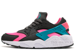 Кроссовки Женские Nike Air Huarache Black Pink White Turquoise
