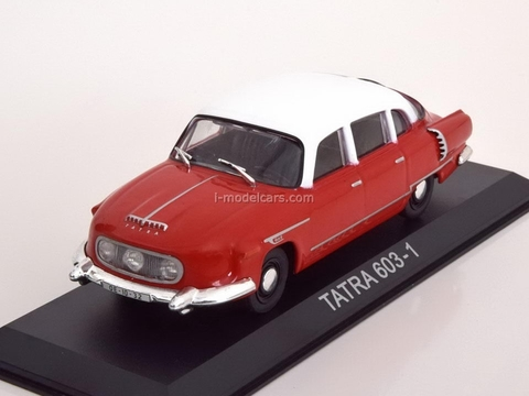 Tatra 603-1 red-white 1:43 DeAgostini Masini de legenda #24
