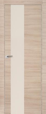 > Экошпон Profil Doors № 5 Z, стекло перламутровый лак, цвет капучино кроскут, остекленная
