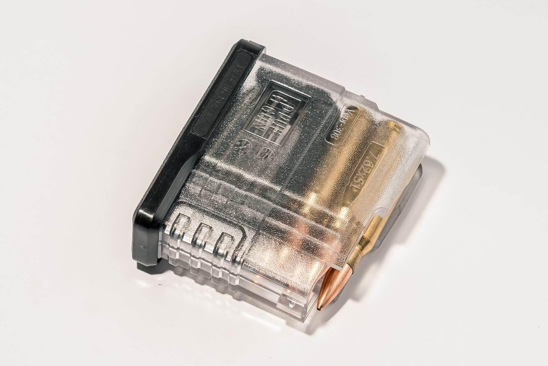 Магазин Pufgun Вепрь-308 на 5 патронов, прозрачный