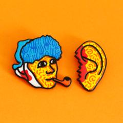 Pin set «Van Gogh and the ear»