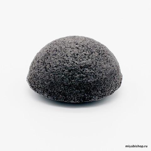 Спонж Конняку, черный (бамбуковый уголь) , полусфера