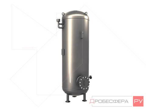 Ресивер для компрессора на 2000 литров 10 бар оцинкованный вертикальный