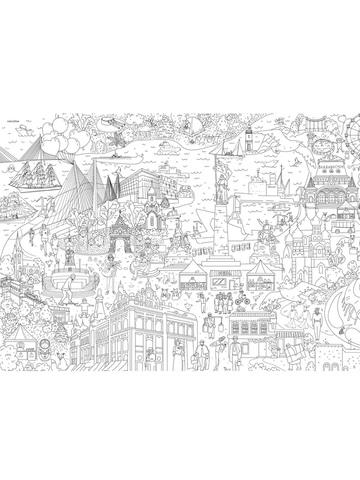 Владивосток: гигантская раскраска-плакат