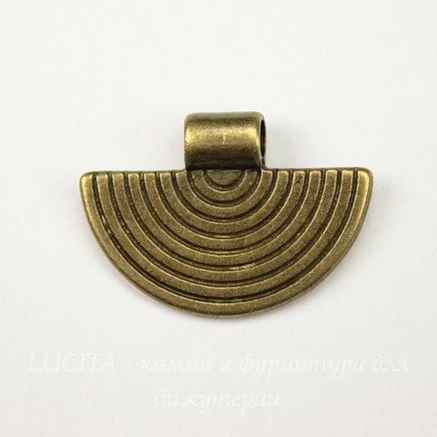 Держатель для приклеивания кабошона (цвет - античная бронза) 25х17 мм