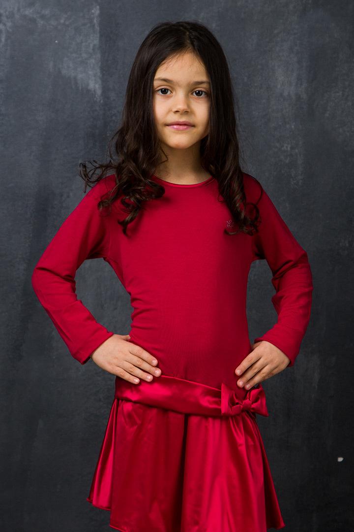 Малиновое домашнее платье для девочек La Perla (Для девочек)