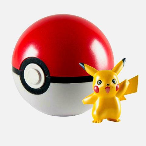 Игровой Набор Открывающийся Покемон Покебол с Фигуркой Пикачу (Pikachu) - Покемоны, TOMY