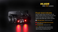 Фонарь налобный Fenix HL60R 950lm аккумуляторный