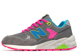 Кроссовки Женские New Balance 580 Elite Edition Grey Pink Blue Green