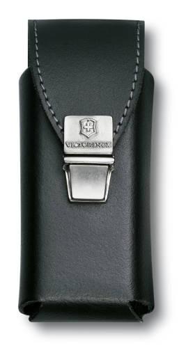 Чехол для SwissTool Plus, кожаный, черный, замок с пружинной защелкой , в пакете с подвесом