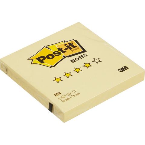 Стикеры Post-it 654 76х76 желт., 100л.