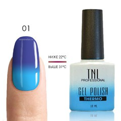 Термо гель-лак TNL 01 - васильковый/голубой, 10 мл