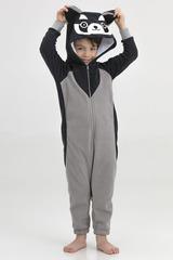 "Детская пижама-кигуруми ""Енот серый"""