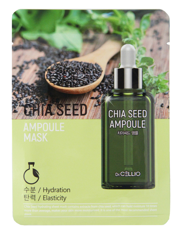 Dr.CELLIO Ампульная тканевая маска для лица CHIA SEED 25мл (*10*100)