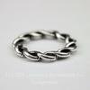 Коннектор - кольцо витое 20 мм (цвет - античное серебро)