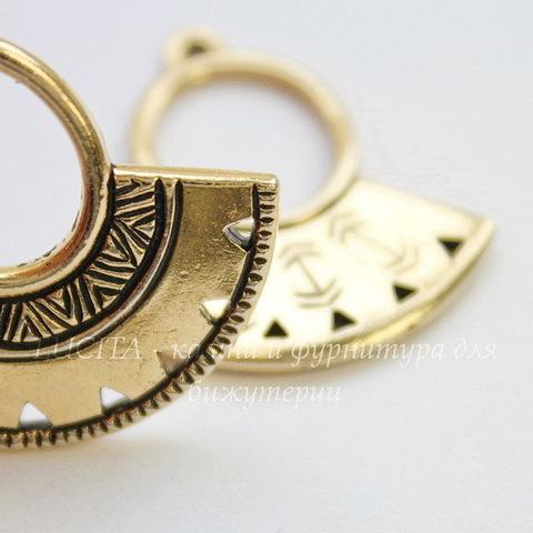 """Коннектор TierraCast """"Этника"""" (1-5) 29х23 мм (цвет-античное золото)"""