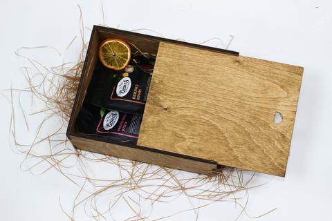 Малый чайный набор №2 в деревянном коробе