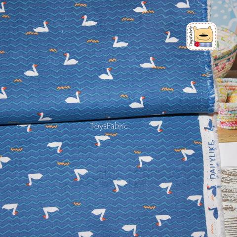 Ткань хлопок Корея Daily Like 20868 (лебеди) 45х55см
