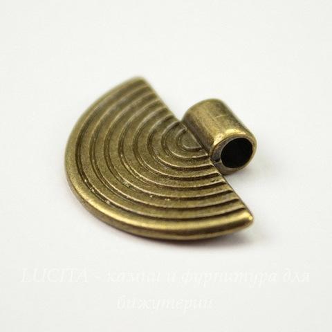 "Бейл с площадкой ""Полукруг"" 25х17 мм (цвет - античная бронза)"