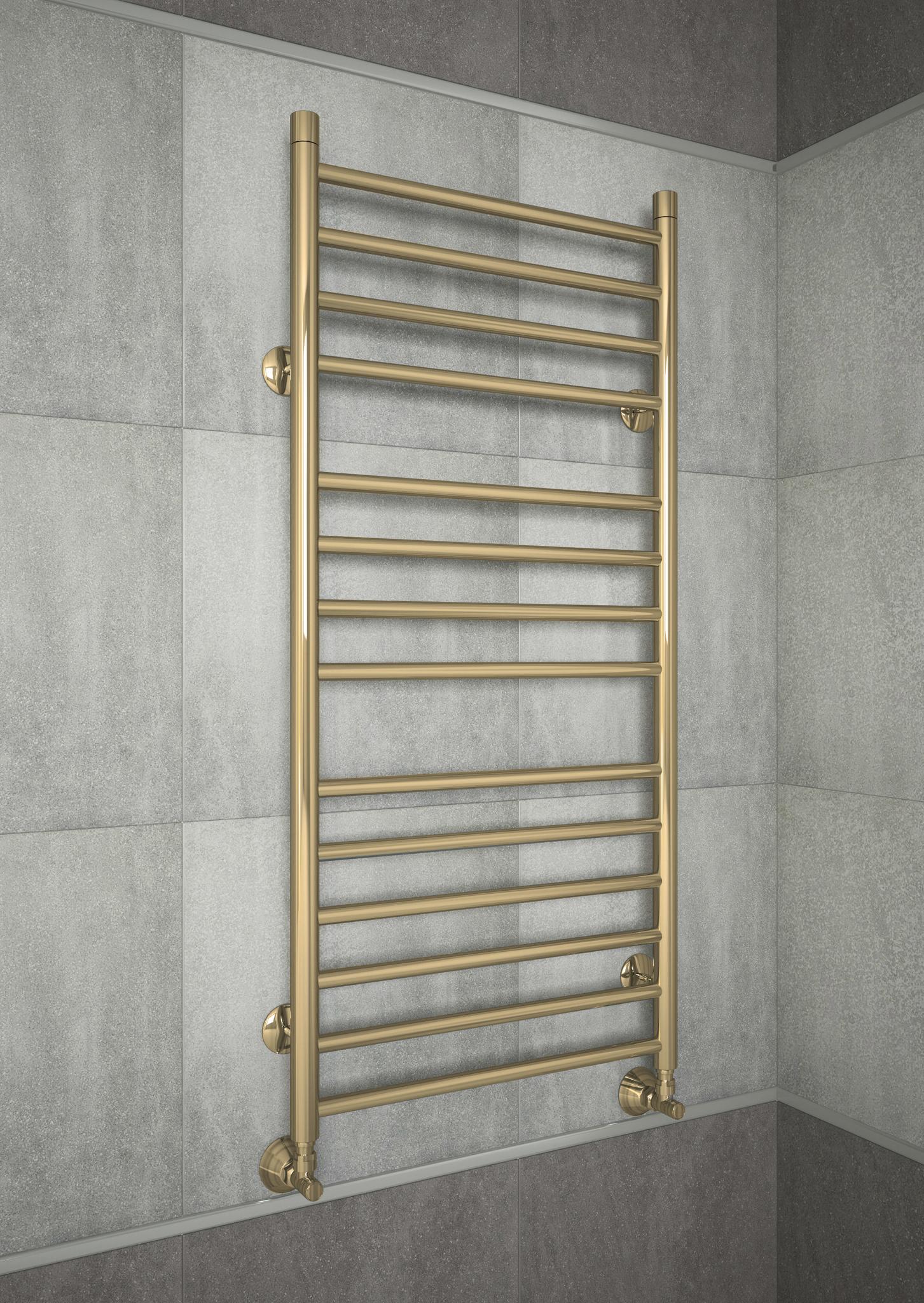 Avrora - бронзовый водяной полотенцесушитель с прямыми перекладинами.