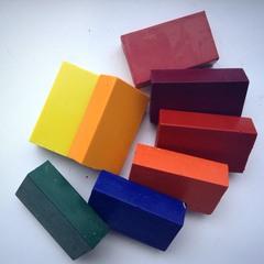 Мелки восковые блоковые 8 цветов Waldorf, без коробки (Stoсkmar)