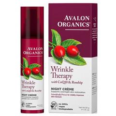 Ночной крем с коэнзимом Q10 и шиповником, Avalon Organics