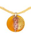 Кулон Mezzo Gold на бисерной нити