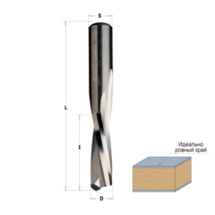 Фреза спиральная монолитная 8x22x70 Z=2 S=8 RH