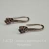 Швензы - крючки с держателем для подвески c цветочком, 21х6 мм (цвет - античная медь), пара
