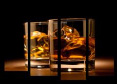 """Модульная картина """"Whiskey glass"""""""