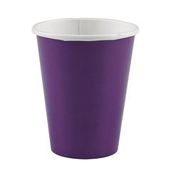 Y 250мл Стаканы бумажные Purple 6шт