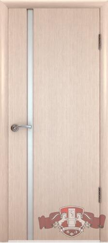 8ДГ5 ТРИПЛЕКС белый, Дверь межкомнатная,Владимирская Фабрика Дверей
