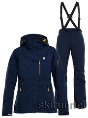 Тёплый горнолыжный костюм Folven Ewe Navy женский