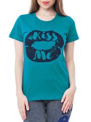 461134-13 футболка женская, бирюзовая