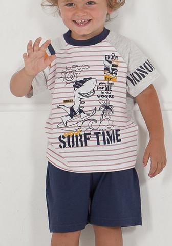 Летний домашний комплект с веселым рисунком на футболке