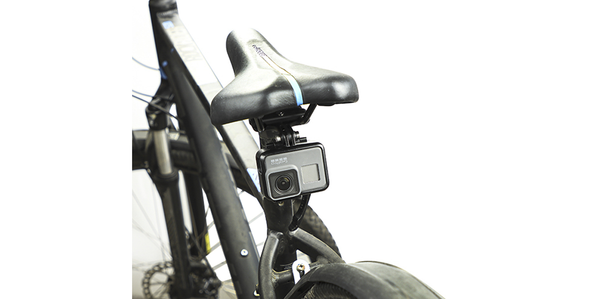 Крепление под седло велосипеда GoPro Pro Seat Rail Mount (AMBSM-001) под седлом вид спереди