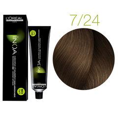 L'Oreal Professionnel INOA 7.24 (Блондин перламутровый золотистый) - Краска для волос