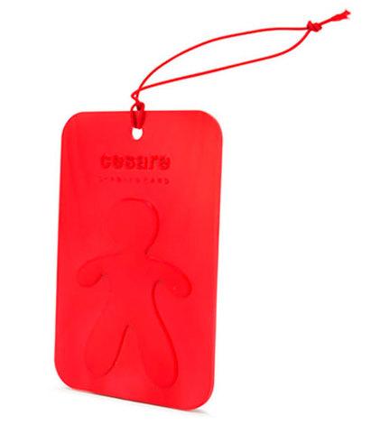 Аромакарточка для автомобиля и гардеробной Cesare Перечная мята (красный), Mr&Mrs Fragrance