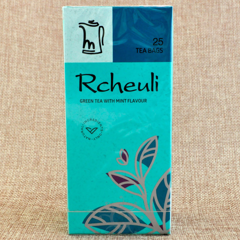 Чай зеленый с мятой Rcheuli, 45г, в пакетиках