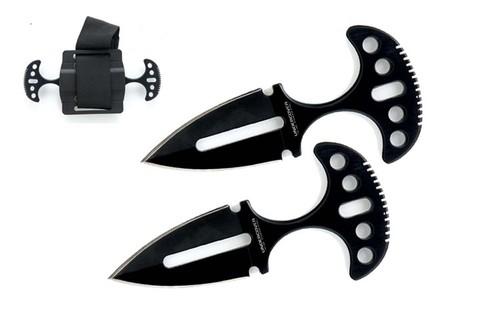 Тактический нож  Twin Push Daggers, чёрный два ножа в ножнах UC1487B