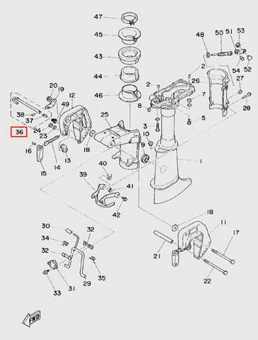 Штифт регулировки угла наклона для лодочного мотора T5 Sea-PRO (10-36)