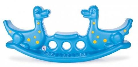 Качалка трехместная Pilsan Дино синяя 06147