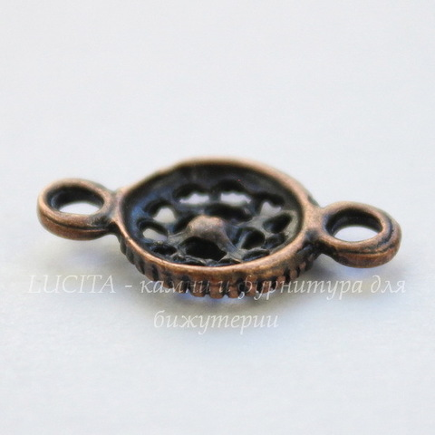 Коннектор (1-1) 22х15 мм (цвет - античная медь), пара